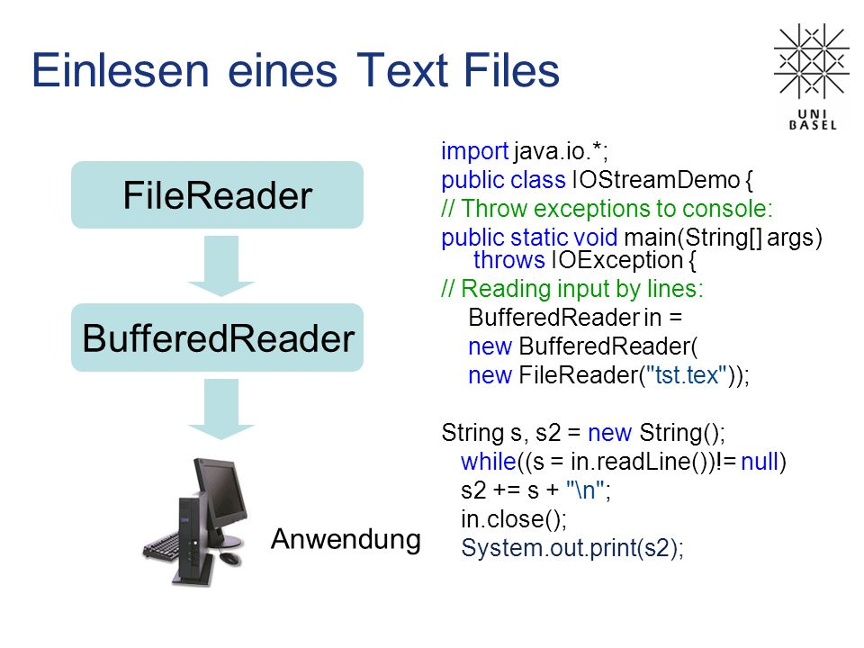 Einlesen eines Text Files