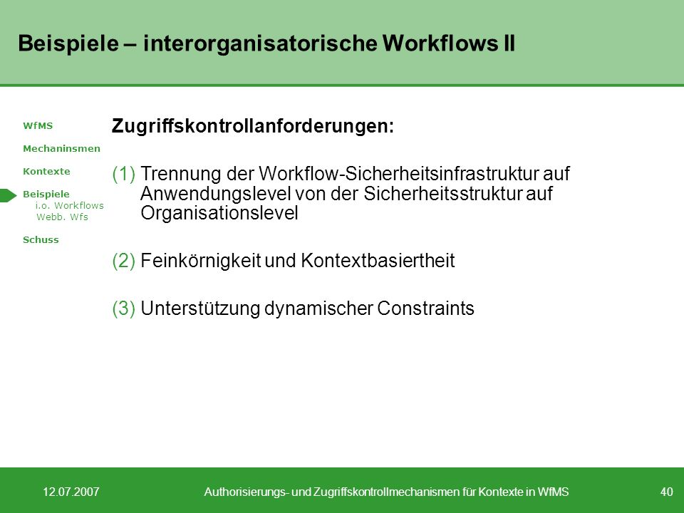 Beispiele – interorganisatorische Workflows II