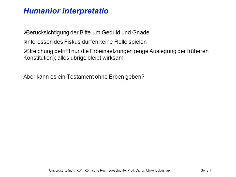Humanior interpretatio