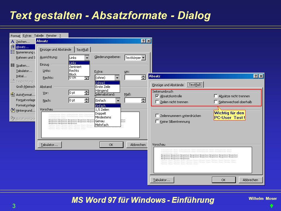 Herzlich willkommen ! MS Word 97 für Windows - Einführung 1 - ppt ...