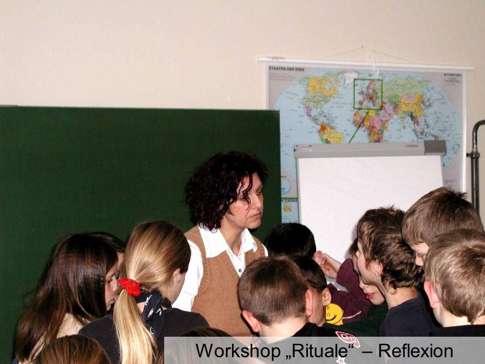 "Workshop ""Rituale – Reflexion"
