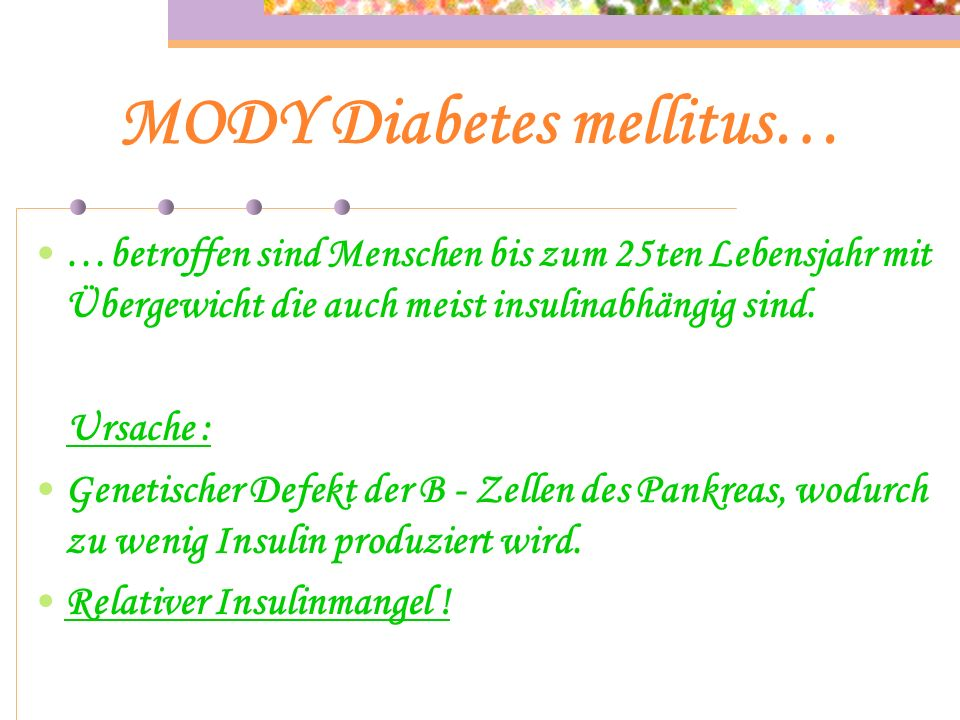 MODY Diabetes mellitus…