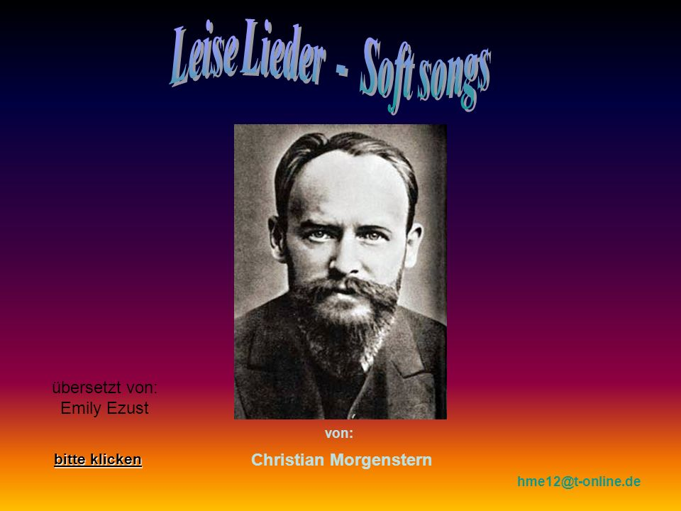 Leise Lieder - Soft songs Christian Morgenstern
