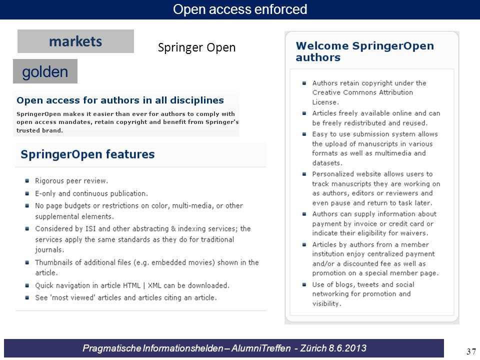 Open access enforced markets Springer Open golden 37