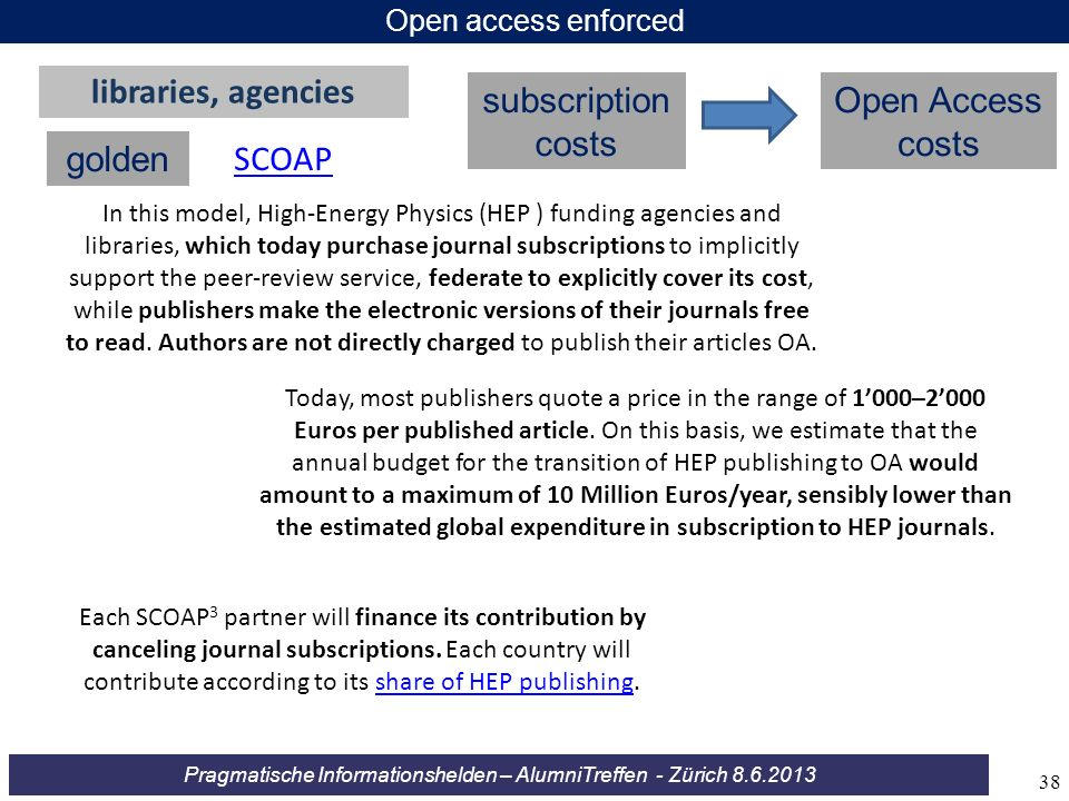 libraries, agencies subscription costs Open Access costs golden SCOAP