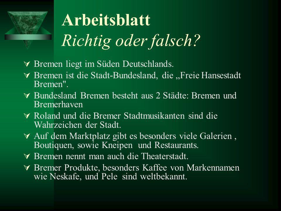"Computerpräsentationen ""Deutsche Bundesländer"" Bremen - ppt video ..."