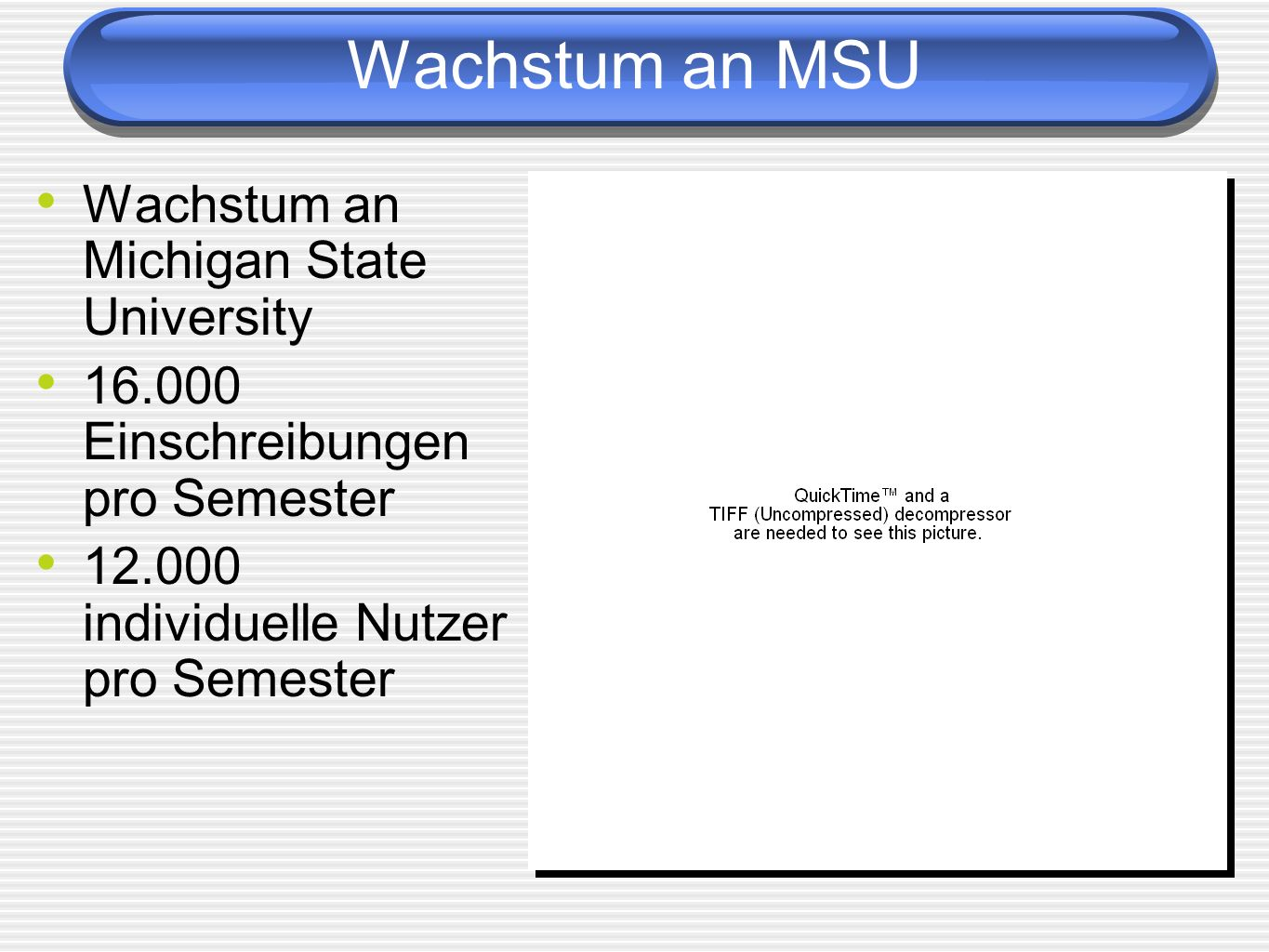 Wachstum an MSU Wachstum an Michigan State University