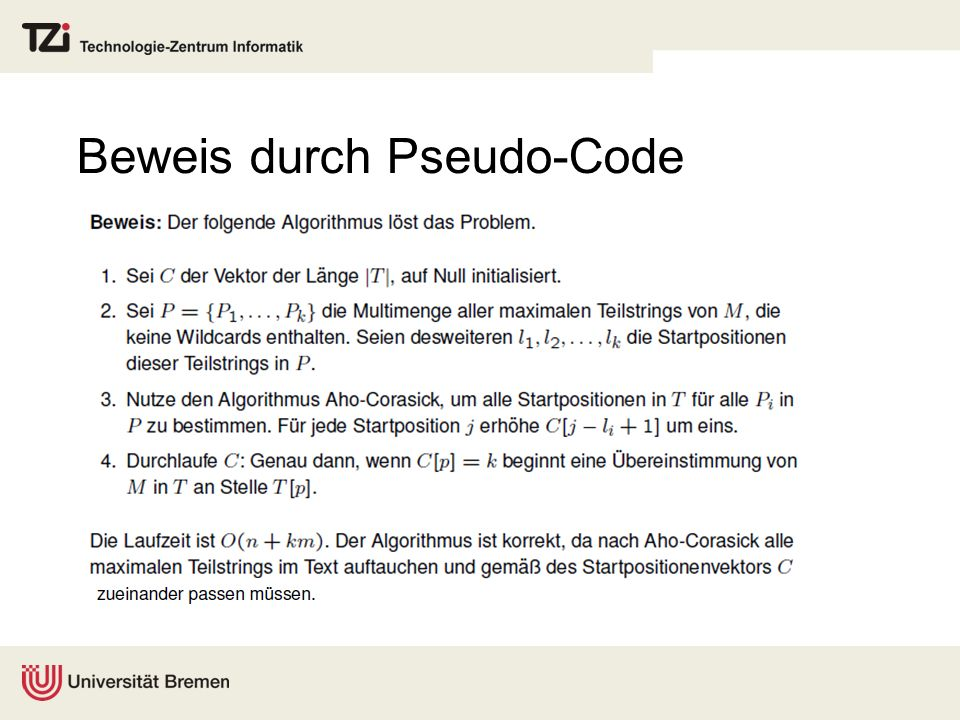 Beweis durch Pseudo-Code