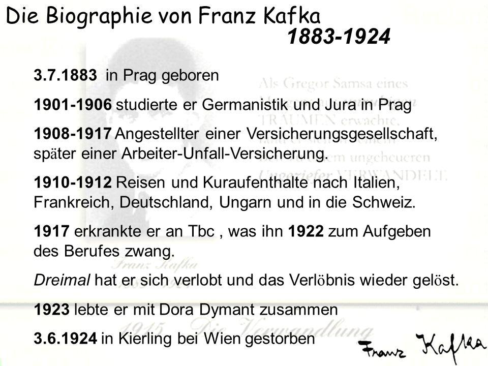 die biographie von franz kafka - Franz Kafka Lebenslauf