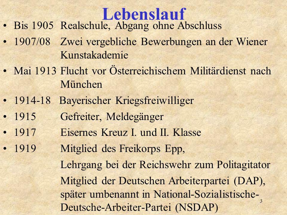 3 lebenslauf - Hitler Lebenslauf