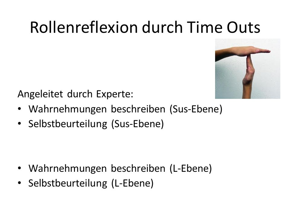 Rollenreflexion durch Time Outs