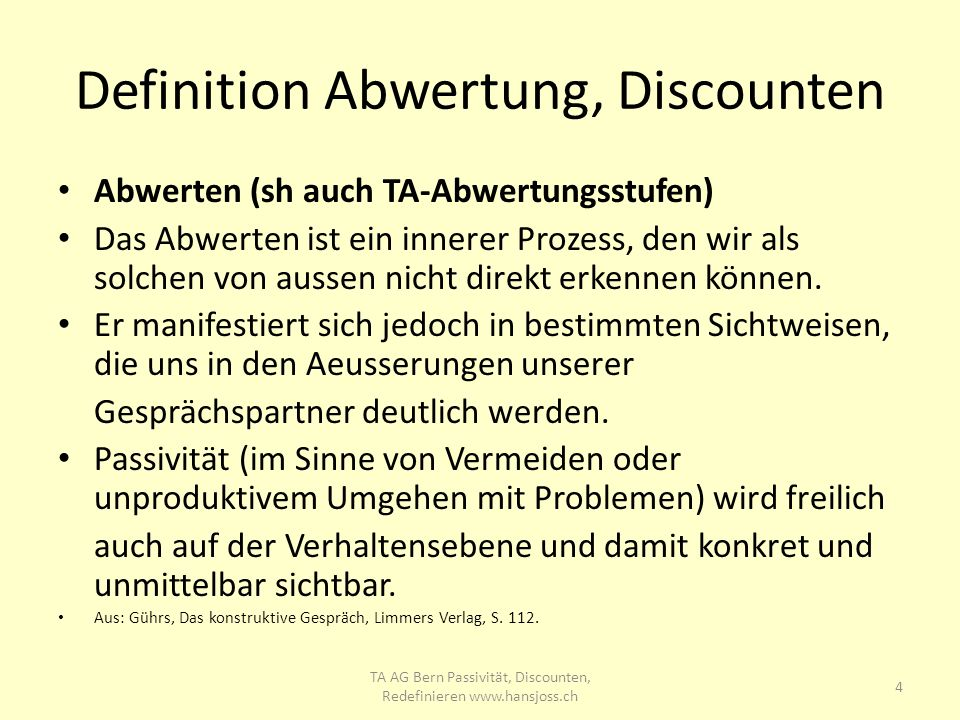 Definition Abwertung, Discounten