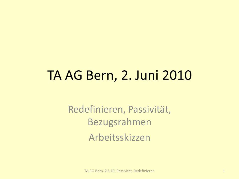 TA AG Bern, , Redefinieren, Passivität - ppt herunterladen