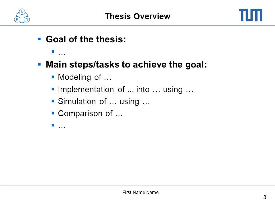 Main steps/tasks to achieve the goal: