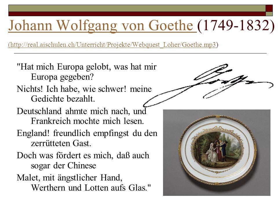 Berühmte Deutsche Dichter Goethe Heine Und Rilke Ppt