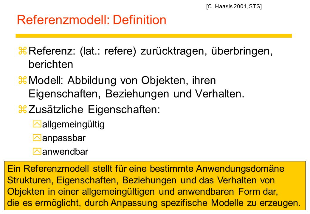 Referenzmodell: Definition