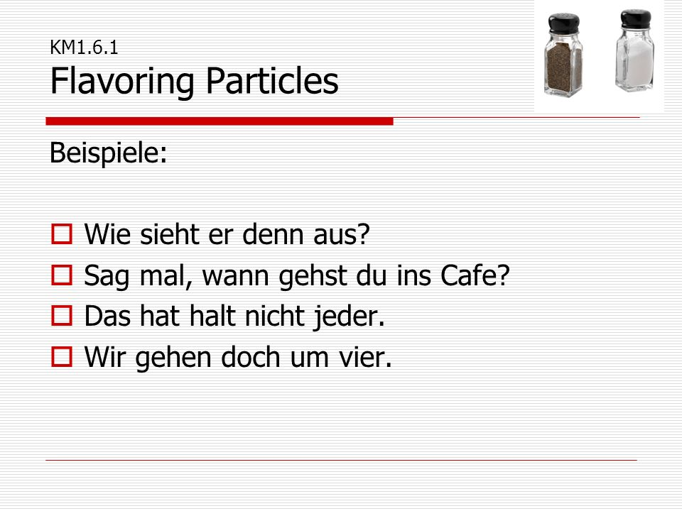 KM1.6.1 Flavoring Particles