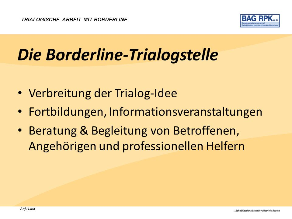 Die Borderline-Trialogstelle