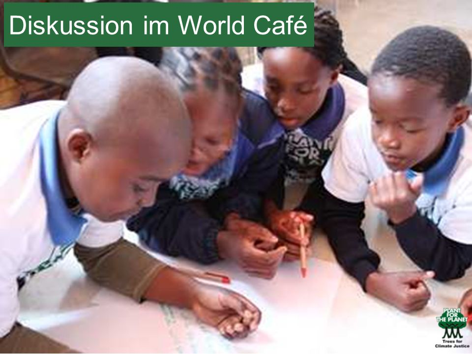 Diskussion im World Café