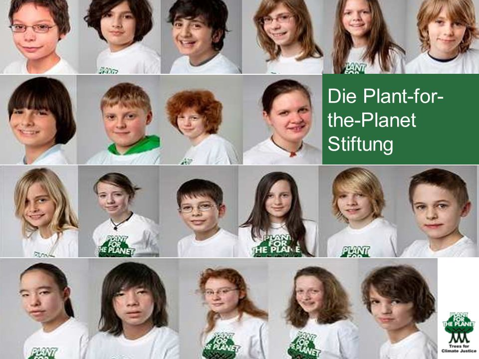 Die Plant-for-the-Planet Stiftung