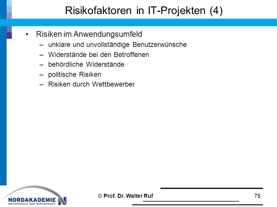 Risikofaktoren in IT-Projekten (4)