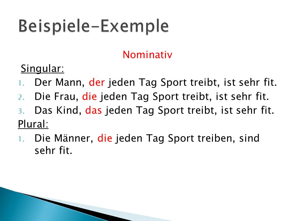 4 beispiele exemple - Relativpronomen Beispiele