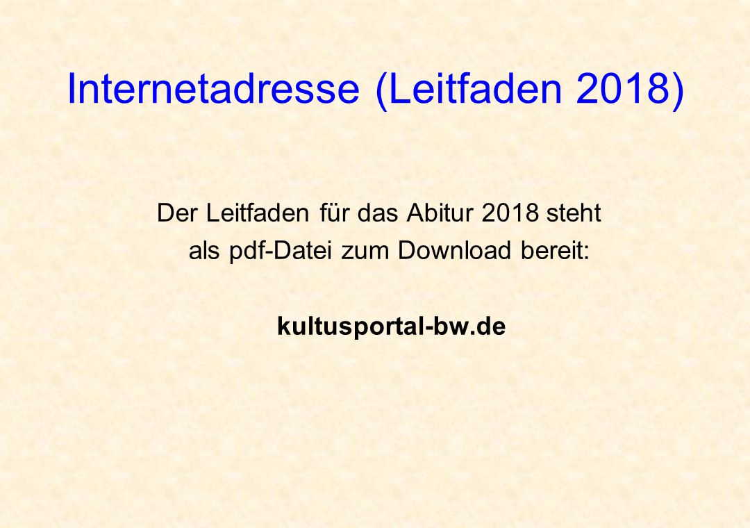 Internetadresse (Leitfaden 2018)‏