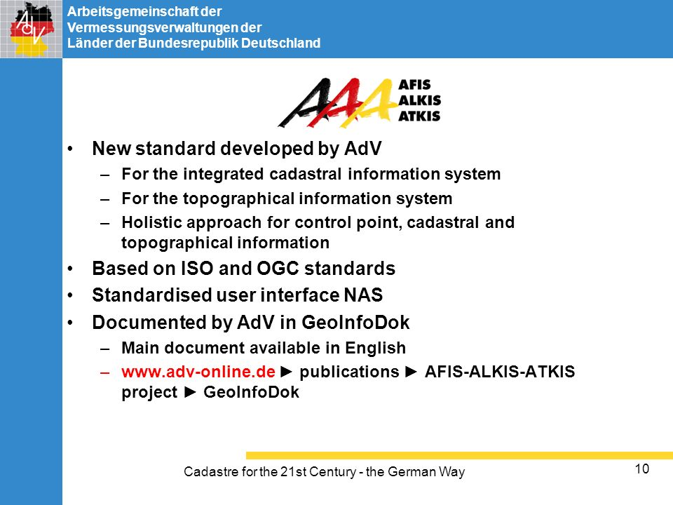 Cadastre for the 21st Century - the German Way