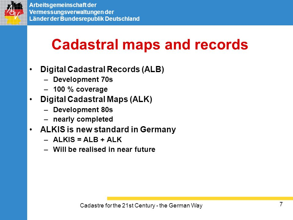 Cadastral maps and records