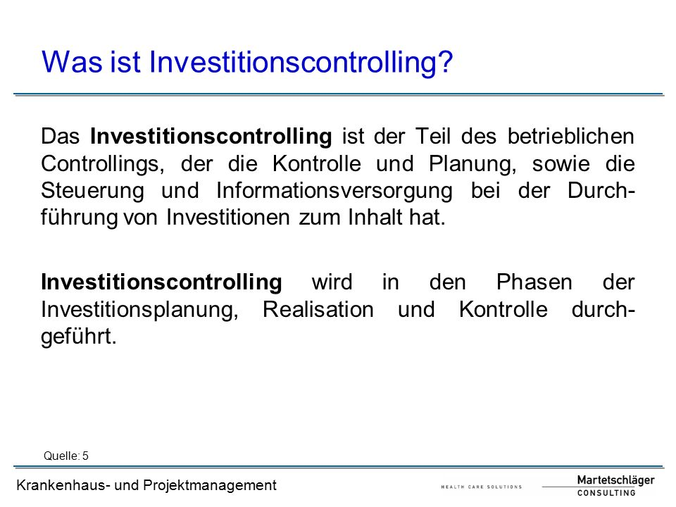 Was ist Investitionscontrolling