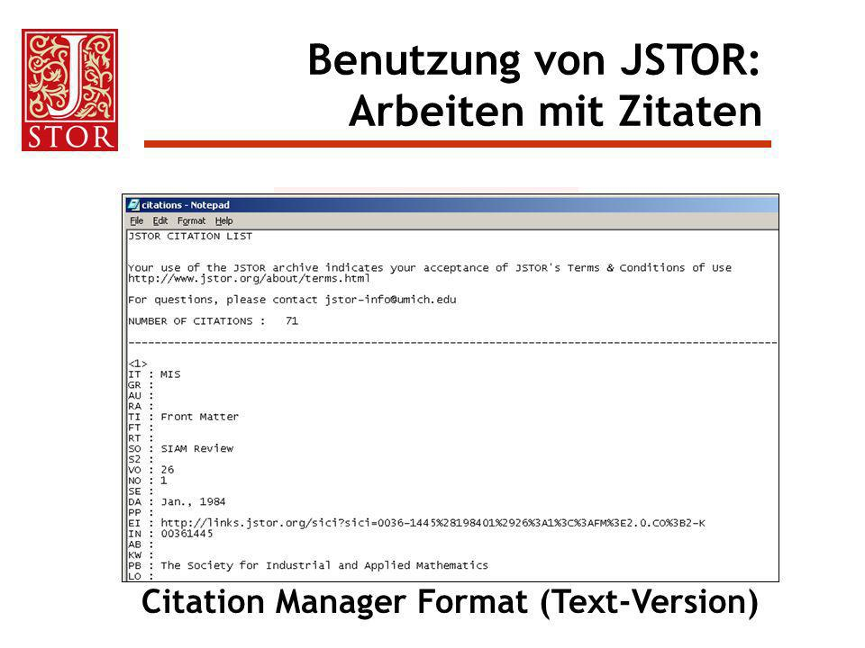 Citation Manager Format (Text-Version)
