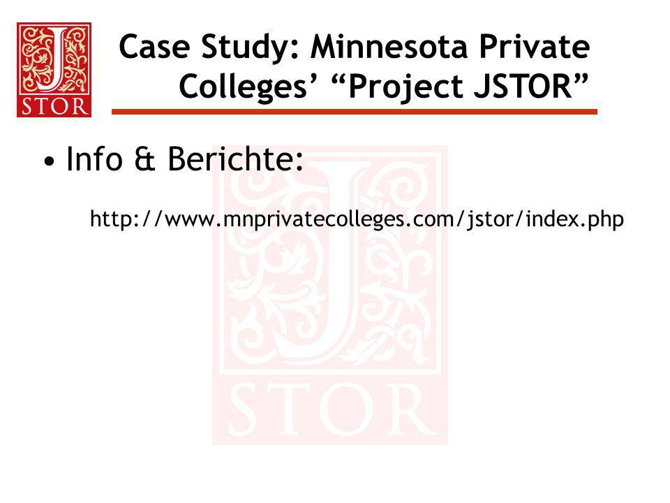 Case Study: Minnesota Private Colleges' Project JSTOR
