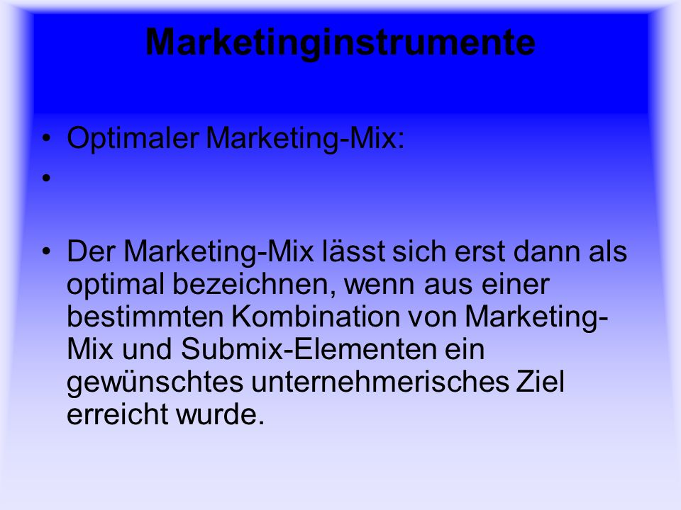 Marketinginstrumente