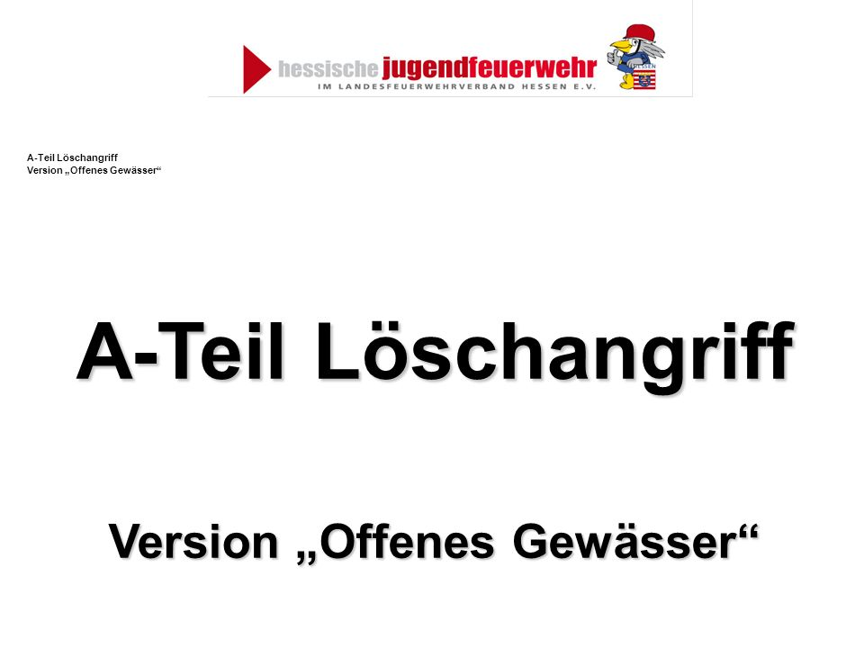 "Version ""Offenes Gewässer"