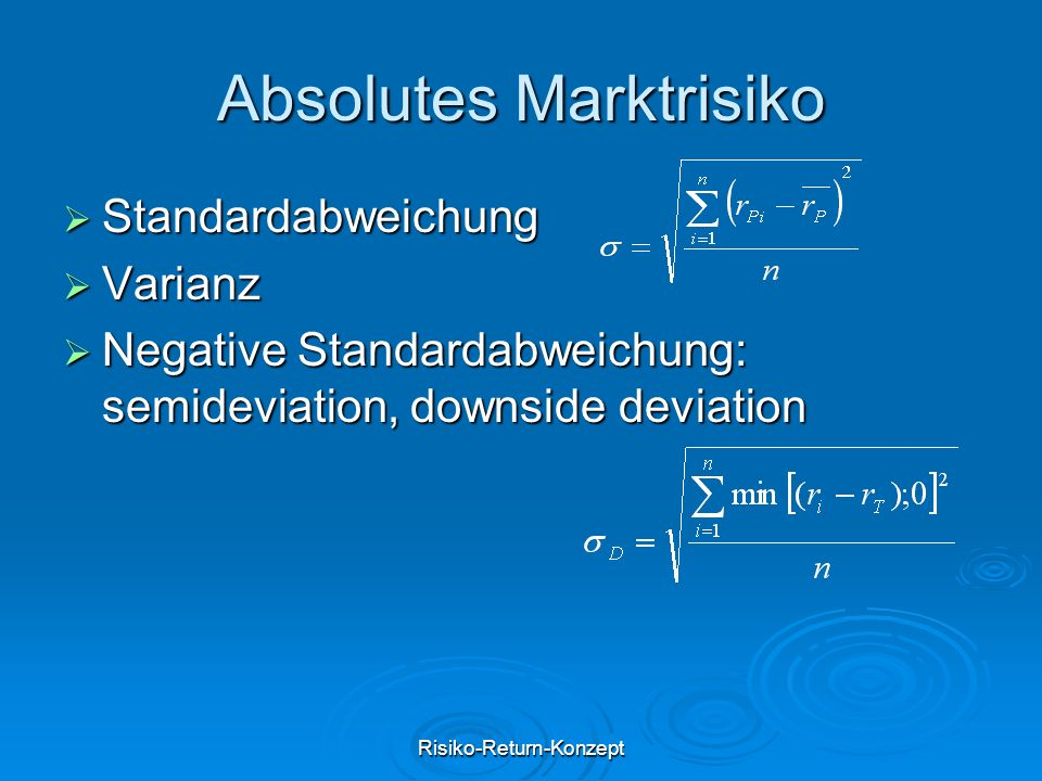 Absolutes Marktrisiko