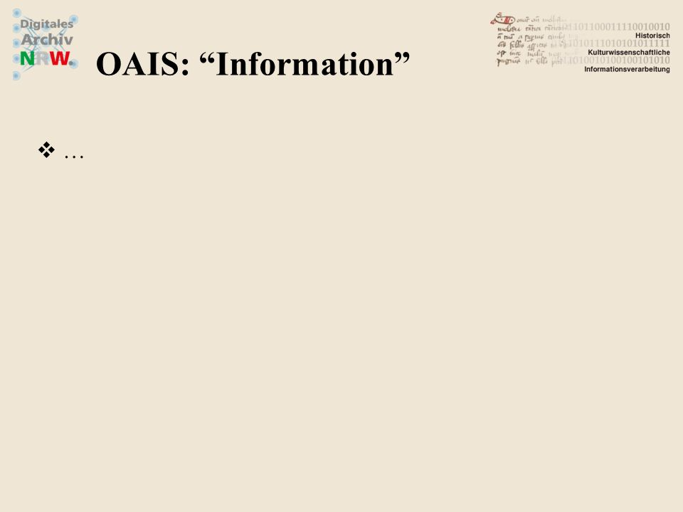OAIS: Information …