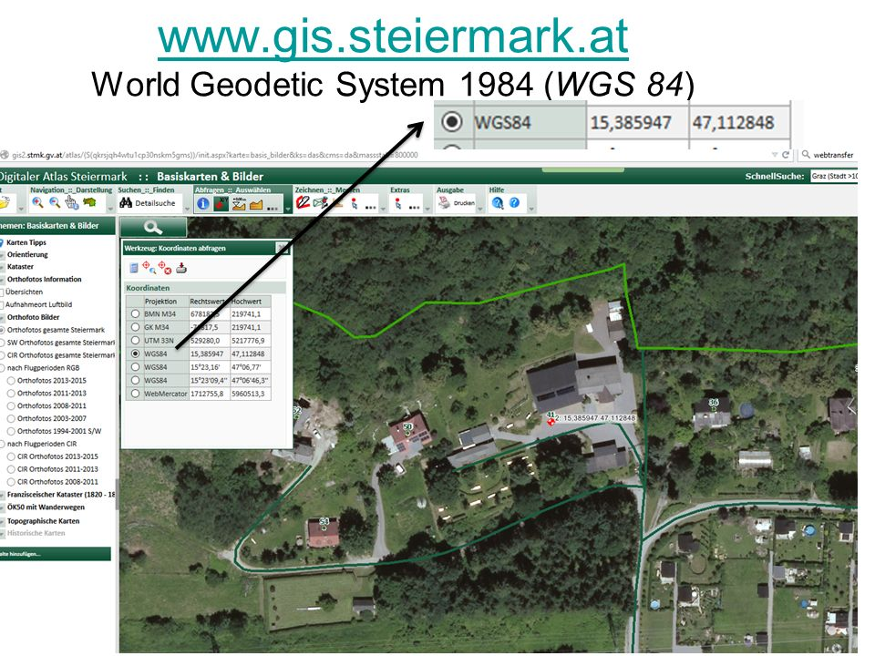 www.gis.steiermark.at World Geodetic System 1984 (WGS 84)