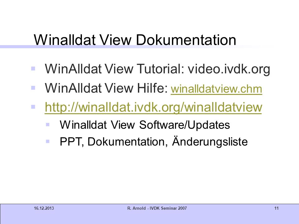 Winalldat View Dokumentation