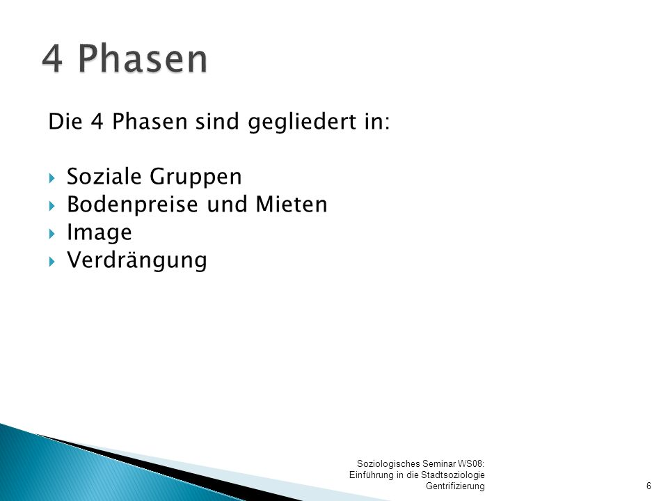 1. Phase Soziale Gruppen:
