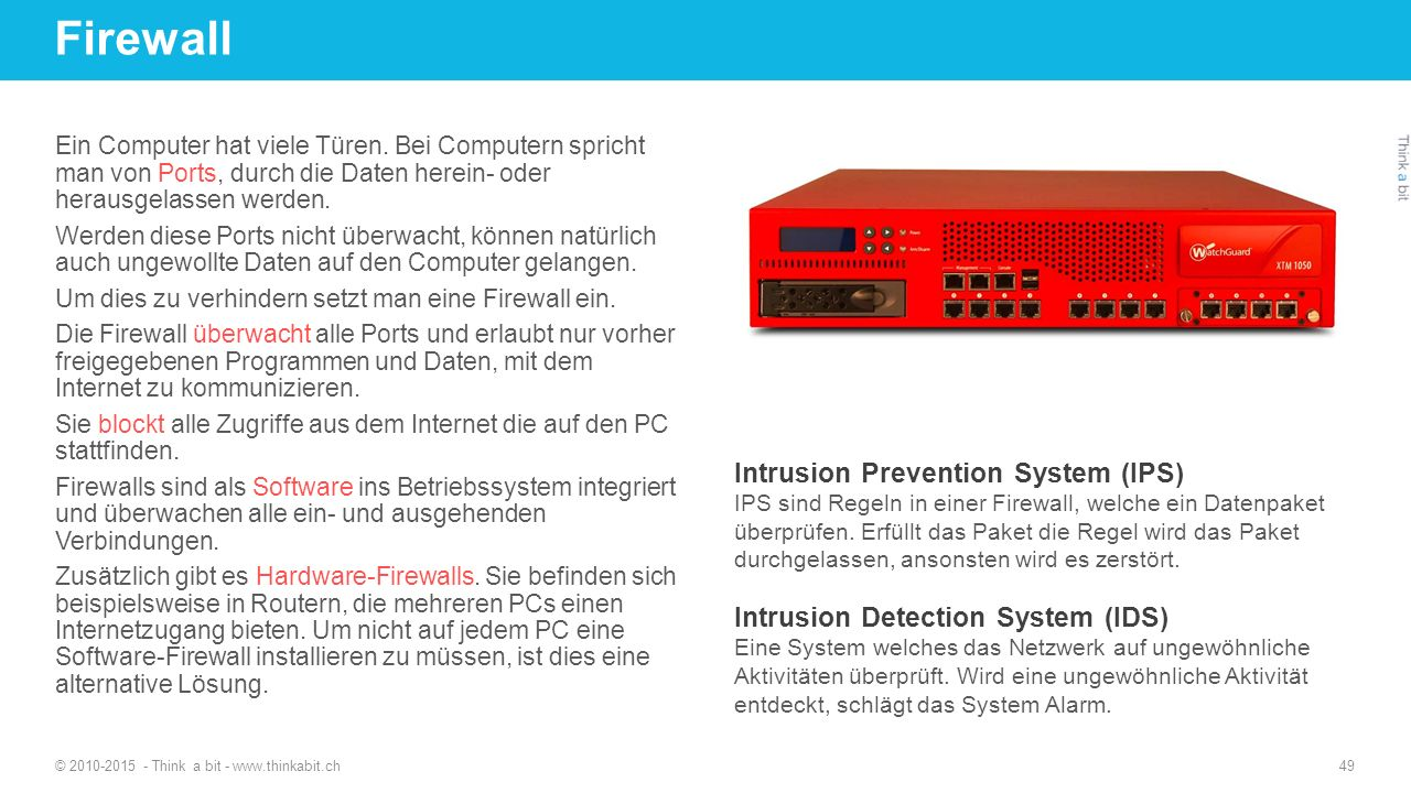 Firewall Intrusion Prevention System (IPS)