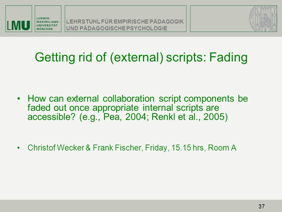 Getting rid of (external) scripts: Fading