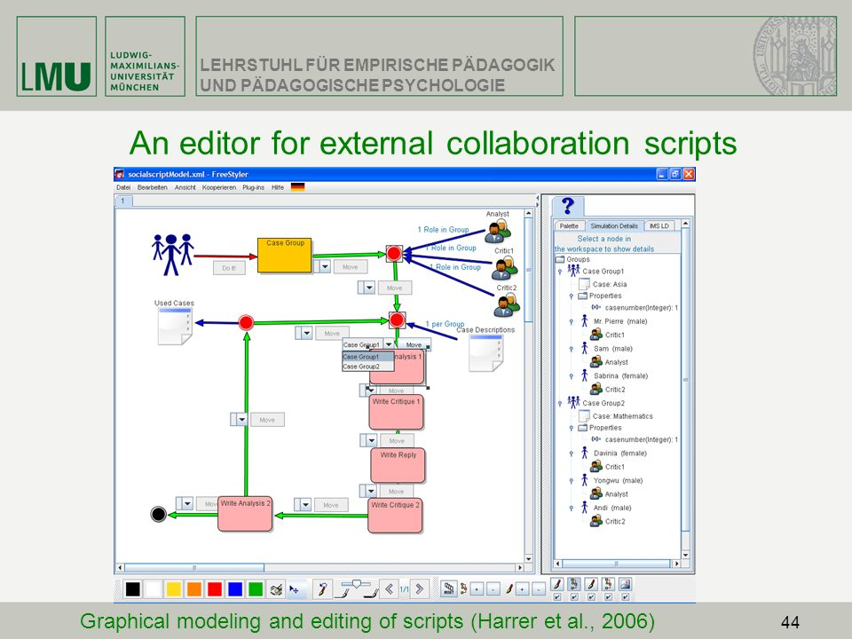 An editor for external collaboration scripts
