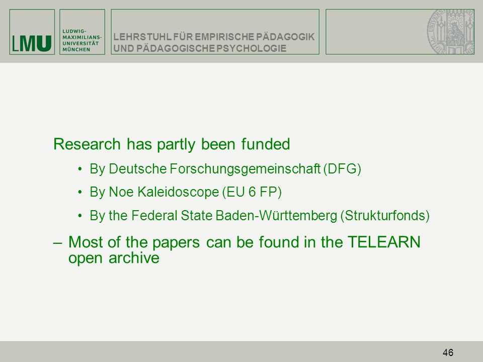 Research has partly been funded