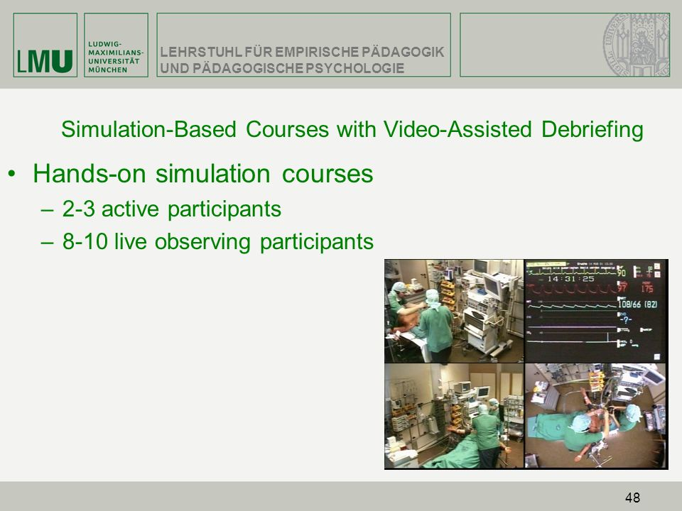 Simulation-Based Courses with Video-Assisted Debriefing