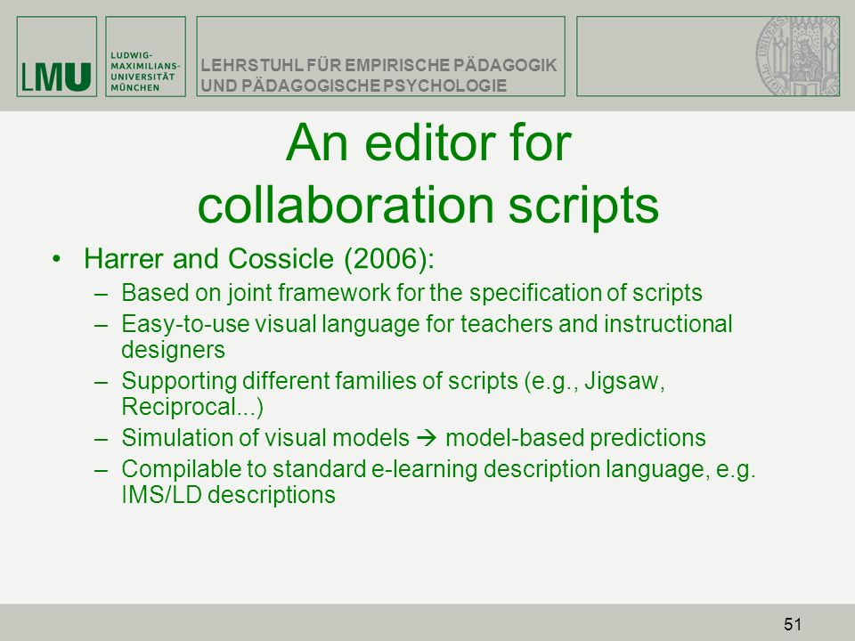 An editor for collaboration scripts