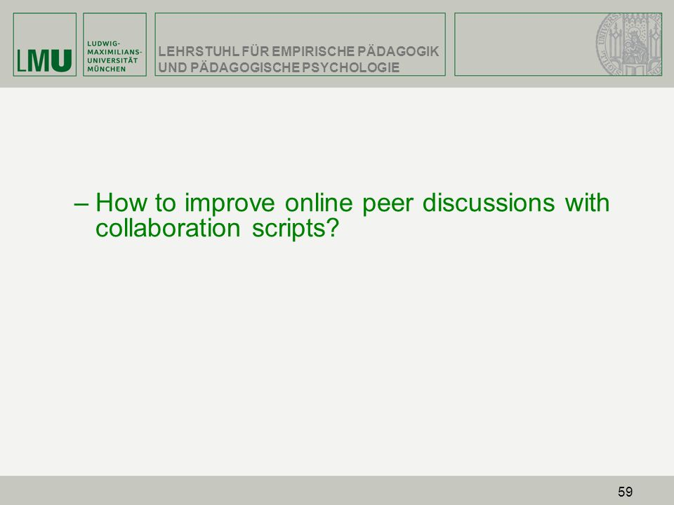 How to improve online peer discussions with collaboration scripts