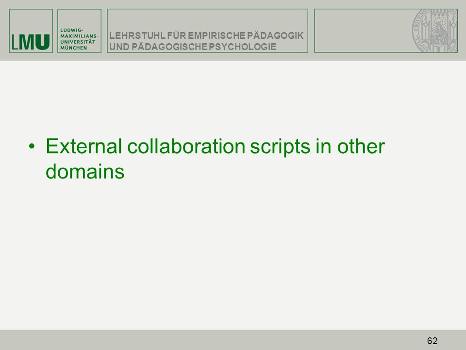 External collaboration scripts in other domains